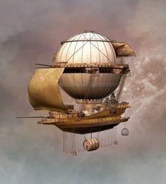 Top 60 Steampunk Style Clip Art, Vector Graphics and Illustrations - iStock Steampunk Ship, Steampunk Artwork, Steampunk Fashion, Flying Ship, Sci Fi Art, Dieselpunk, Zeppelin, Game Art, Fantasy Art