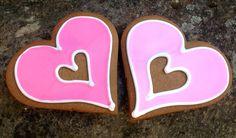 big gingerbread hearts. Valentine perfection. www.masnax.com