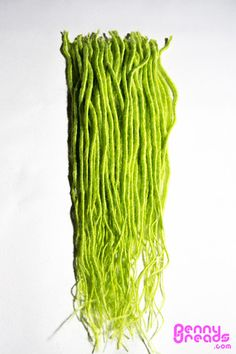 "Lime Green 24"" U-Tip Synthetic Dreadlocks (10 pieces) - 100% Kanekalon. – Penny Dreads & Wigs"