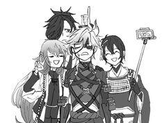Mutsunokami Yoshiyuki, Touken Ranbu, Cute Boys, Sword, Have Fun, Character Design, Fan Art, Manga, Anime