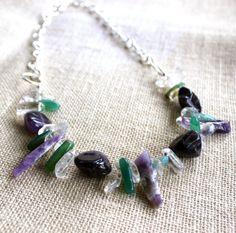 Original Natural Gemstones  Amethyst Agate by SoulHealingCreations