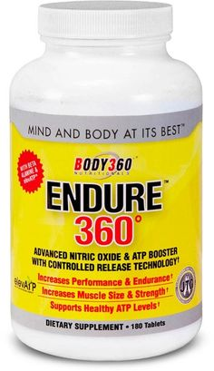 Endure360™ with elevATP™ (i.e. ancient peat and apple extract ) is an advanced nitric oxide/ATP endurance and performance booster. Key ingredients in our proprietary formula work synergistically to expand blood vessels, increase ATP and maximize nutrient uptake and delivery to muscle tissue at the cellular level. Experience sustained endurance and performance during your longest and most rigorous workouts. #N101