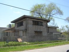 Frank Lloyd Wright's Wynant House, Gary, Indiana, abandoned in the 1950's and later suffered a fire in 2006. It is suspected to be arson.