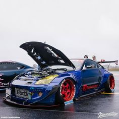 """stancenation:""""Think your car could pull off red Work Meisters? Nissan 350z Convertible, Sport Cars, Race Cars, Street Racing Cars, Auto Racing, Honda Civic Si, Stance Nation, Drifting Cars, Tuner Cars"""