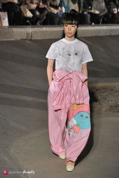 Spring/Summer 2014 Collection of Japanese fashion brand Jenny Fax on October 19, 2013, in Tokyo.