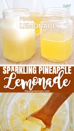 SPARKLING PINEAPPLE LEMONADE RECIPE Need a refreshing sparkling lemonade idea? Treat your taste buds with a cold pineapple lemonade! This delicious lemonade punch will leave you feeling energized and vibrant, perfect summer drink! Pineapple Drinks, Pineapple Lemonade, Pineapple Punch, Lemonade Detox, Iced Tea Lemonade, Peach Lemonade, Tamarindo, Flavored Lemonade, Alcoholic Drinks With Lemonade