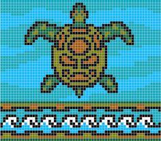 Free cross stitch pattern - Sea Turtle