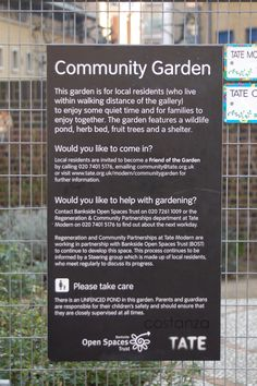 Basic infrastructure for successful community gardening Garden