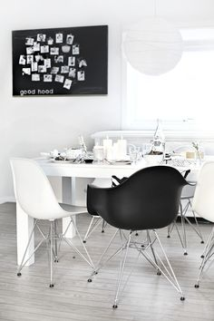 Clean and contemporary decor! Paris Side and Arm Chairs available at Lexmod.com.