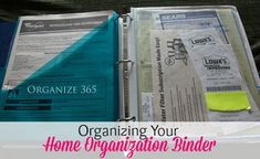 Over a decade ago I made a home organization binder. I am SO glad I did!
