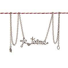 Je T'Aime Romantic French Necklace  i love you by Exaltation, $19.00