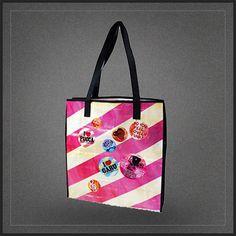 Sac à main shopping Pucca, idéal en sac de courses de type sac cabas