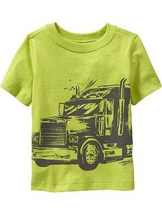 Semi Truck Tees for Baby