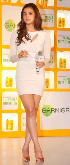 Alia Bhatt at the launch of Garnier Fructis