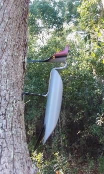 morebirds Pvc Pipe Crafts, Welding Crafts, Pvc Pipe Projects, Outdoor Projects, Bird Sculpture, Outdoor Sculpture, Metal Yard Art, Metal Art, Pvc Pool