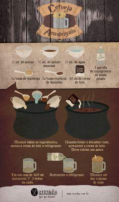receita-infográfico de cerveja amanteigada do harry potter