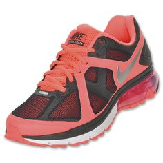 Nike Air Max Excellerate Women's Running Shoes | FinishLine.com | Anthracite/Metallic Silver/Hot Punch