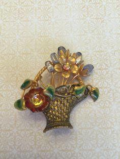 A personal favorite from my Etsy shop https://www.etsy.com/listing/452102658/vintage-estate-enamel-woven-basket