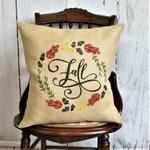 Fantastic Totally Free Fall Wreath fabric Ideas The autumn time of year provides along with it comfy effective colorings, feathery plants and many c Pumpkin Pillows, Fall Pillows, Throw Pillows, Stenciled Pillows, Burlap Pillows, White Pumpkins, Fall Pumpkins, Burlap Fabric, Paint Burlap
