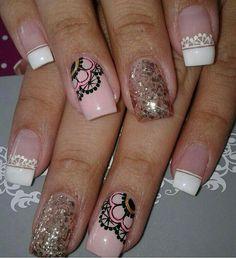 Girls Nails, Pink Nails, Toe Nails, Nail Polish Designs, Nail Art Designs, Feather Nail Art, Marble Nail Art, Make Color, Creative Nails