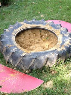 Don't throw those tires out quite yet. Here are some fun ways to use them in your Outdoor Childcare Space.