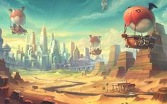 New server selection background for MapleStory 2