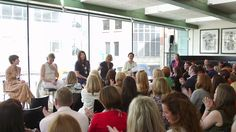 Rachel Bates comperes interiors industry event with panel of editors from leading national titles