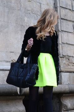 how to add a splash of neon in the chicest way possible