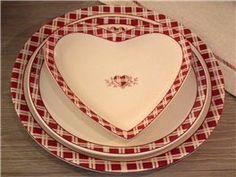 """Coupelle """"Coeur Alpin"""" en forme de coeur Amadeus. la déco campagnarde et romantique pour votre table"""