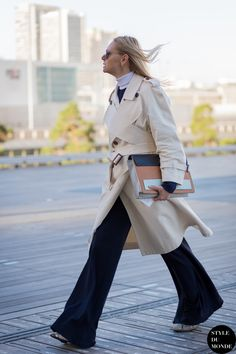 Before Christophe Lemaire Street Style Street Fashion Streetsnaps by STYLEDUMONDE Street Style Fashion Photography