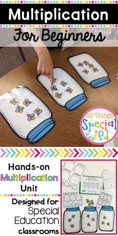 This beginning multiplication unit is just what you need to teach students all about multiplication! Designed for the special education classroom )or interventionist), this unit will give you interactive hands-on materials as well as worksheets for all mu