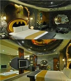a batman themed room