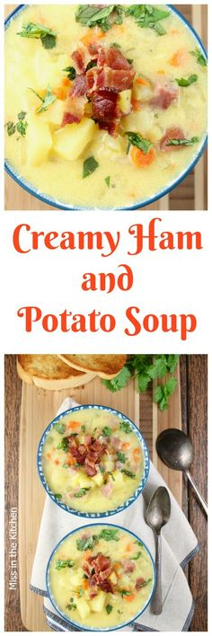 Creamy. Ham and Potato Soup Recipe perfect for leftover ham and makes a hearty and delicious dinner!