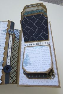 Here is the completed Gatefold mini Album using Teresa Collins Everyday Moments paper collection. I made this album from the ground up with...