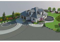 Ogród przydomowy /k. Płońsk Concrete Driveways, Landscape Plans, Garden Planning, Architecture Design, Outdoor Living, Living Spaces, Tech, How To Plan, Mansions