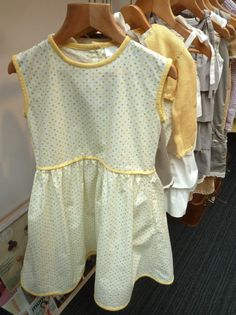 Aravore combines yellow and green in one dress for a simple kids summer run around style for 2013
