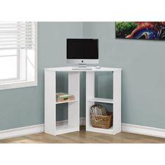 Monarch White Corner 36-inch Computer Desk - Walmart.com