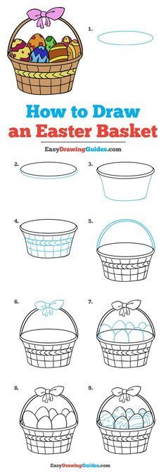 Learn How to Draw an Easter Basket: Easy Step-by-Step Drawing Tutorial for Kids and Beginners. #EasterBasket #DrawingTutorial #EasyDrawing See the full tutorial at https://easydrawingguides.com/how-to-draw-an-easter-basket/.