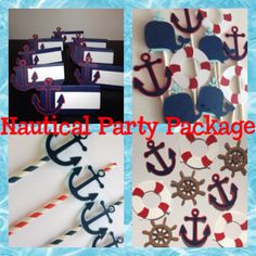 Nautical themed Party Package Anchors Sail Boats by MiaSophias, $92.00