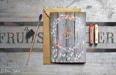 River Fabric faire part sur mesure mariage-aquarelle-fleur-coquelicot-créatif-personnalisé-boheme