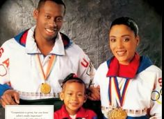 Beautiful❤ Flo Jo And Her Husband And Their Daughter