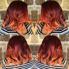 blood orange ombre copper hair