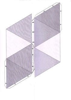 vorlage f r hohlk rper zum falten pyramide weihnachten pinterest weihnachtsdeko selber. Black Bedroom Furniture Sets. Home Design Ideas