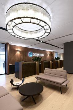 Dramatic office interior design  #interior #OfficeInteriors