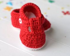Crochet Pattern Baby Shoes Stripy Espadrilles 3 by matildasmeadow