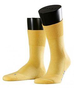 FALKE Herren Socken Run, Gr. 42/43, Gelb (sun 1066)