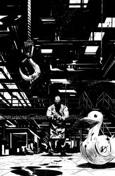 DEAD BODY ROAD 03 cover - inks by MatteoScalera.deviantart.com on @deviantART