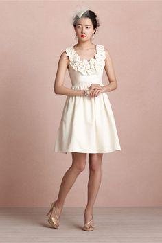 Ribboned Garland Dress from BHLDN...I love bows.