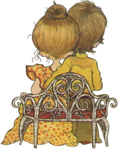 gifs et tubes sarah kay - Page 4 Sarah Key, Mary May, Baby Clip Art, Vintage Drawing, Decoupage Vintage, Holly Hobbie, Illustrations, Australian Artists, Digi Stamps