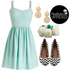 Clear Blue Perspective Dress